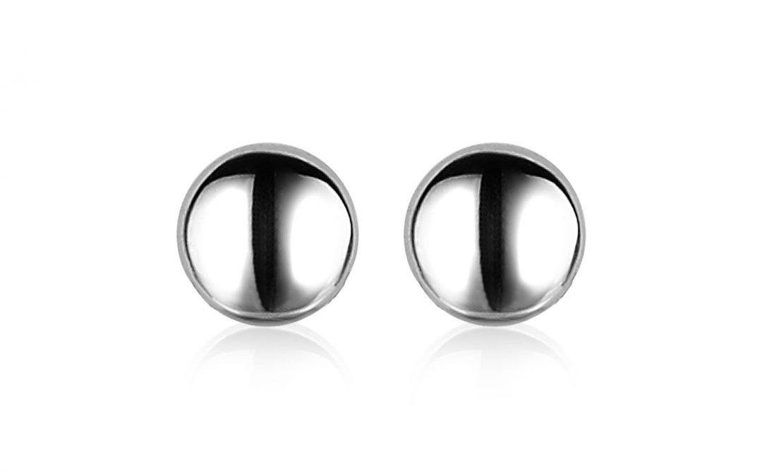 ZINZI zilveren oorknoppen glad rond voor creoolhangers ZIO1CH
