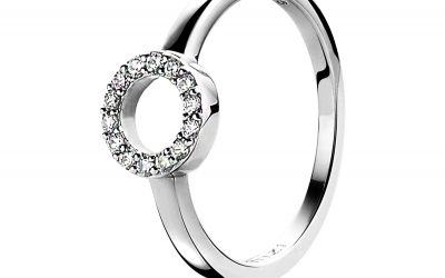 ZINZI zilveren ring rond open wit ZIR1063