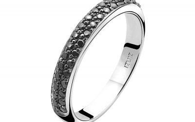 ZINZI zilveren ring zwart ZIR881Z