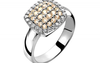 ZINZI zilveren ring champagne ZIR887C