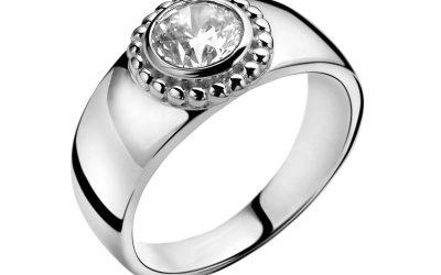 ZINZI zilveren ring wit ZIR912