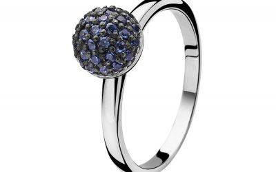 ZINZI zilveren ring blauw ZIR915B