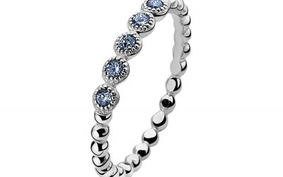 ZINZI zilveren ring blauw ZIR916B