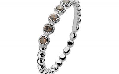 ZINZI zilveren ring champagne ZIR916C