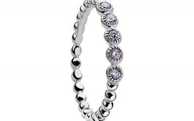 ZINZI zilveren ring paars ZIR916P