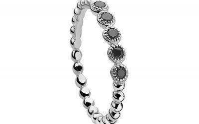 ZINZI zilveren ring zwart ZIR916Z