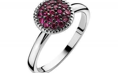 ZINZI zilveren ring rood ZIR930R