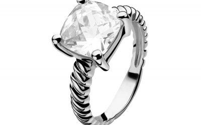 ZINZI zilveren ring wit ZIR937