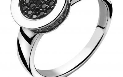 ZINZI zilveren ring zwart ZIR996Z